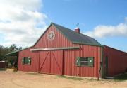 black horse barn