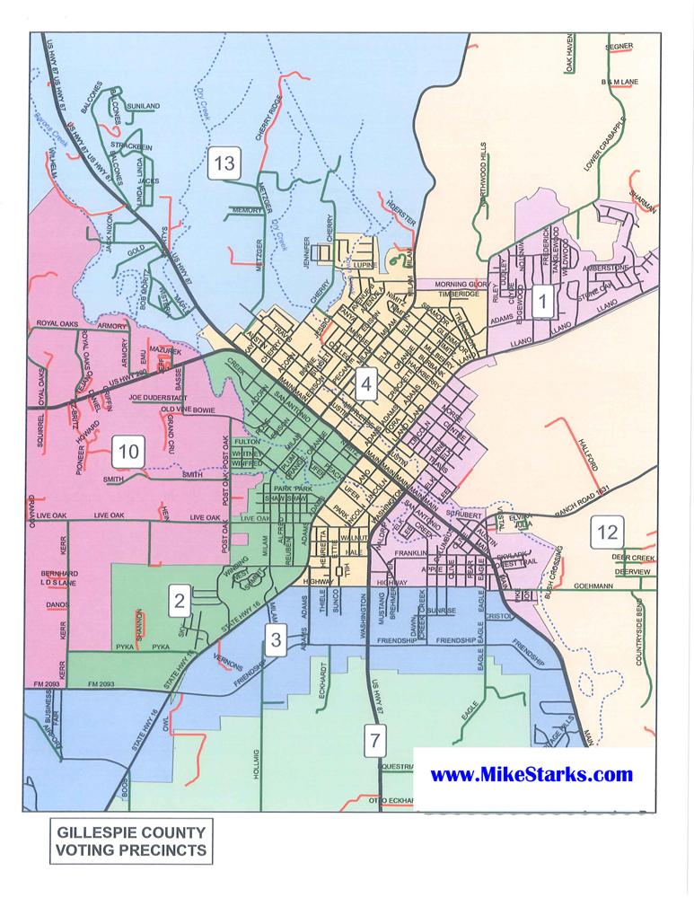 Voting Precincts Fredericksburg TX