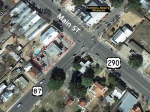 Prime Commercial corner up for sale on Fredericksburg TX Main Street