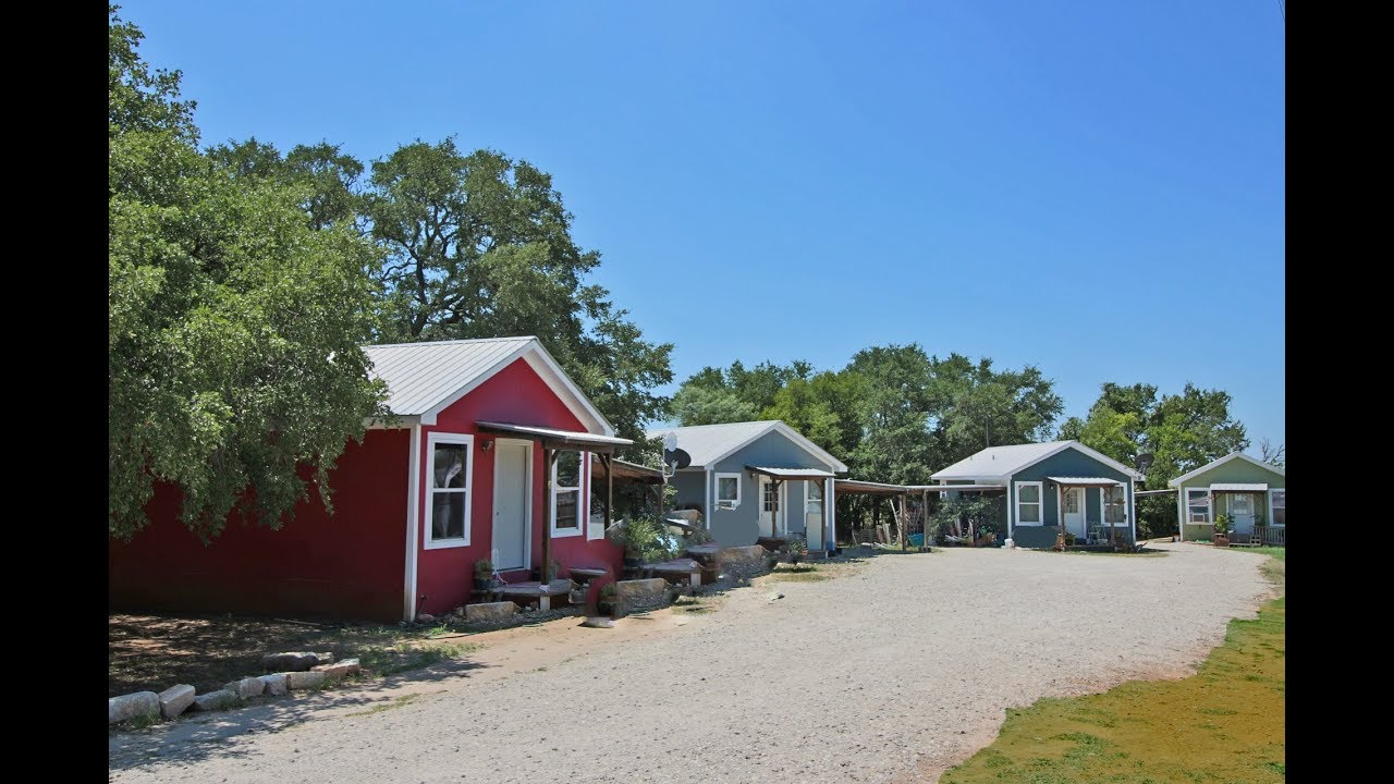 Pastel Cabins commercial investment property Fredericksburg TX