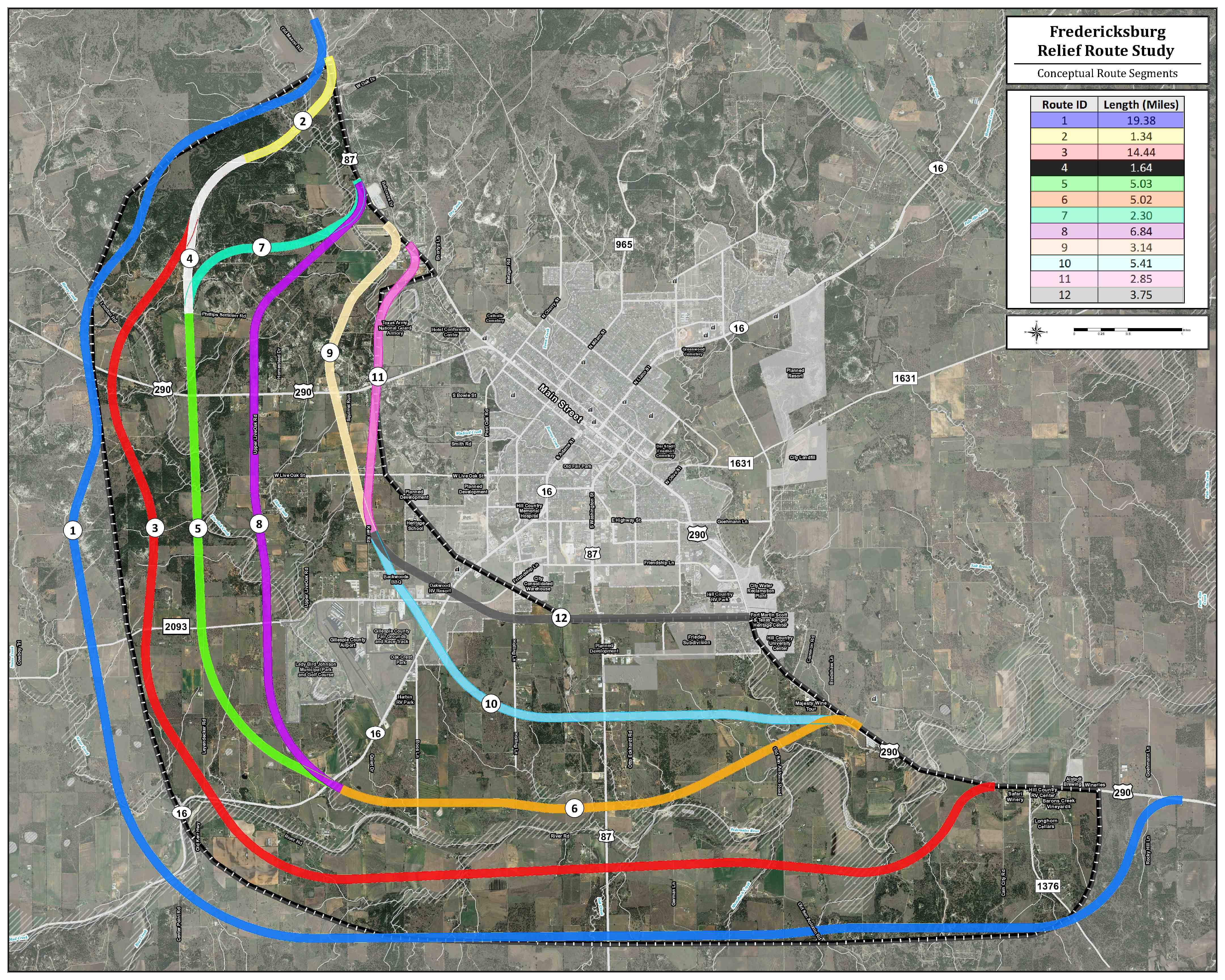 Fredericksburg TX Relief Route