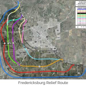 Fredericksburg Relief Route