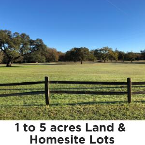 1 to 5 acres
