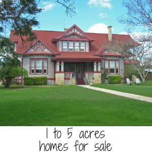 1 to 5 acres home for sale