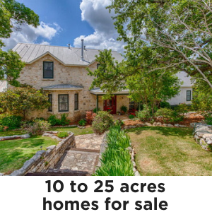 Homes on 10 to 25 acres