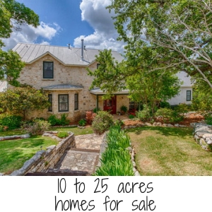 10 to 25 acres home for sale