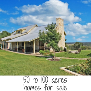 50 to 100 acres home for sale