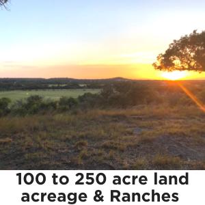 100 to 250 Acres