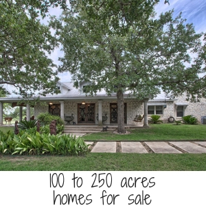 100 to 250 acres home for sale