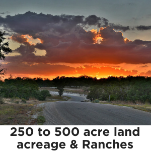 250 to 500 Acres
