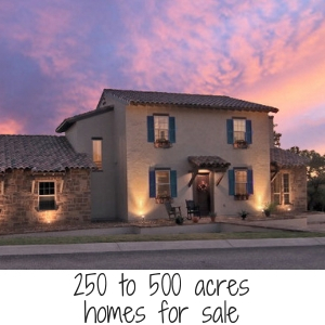 250 to 500 acres home for sale
