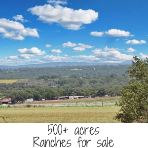 500+ acres Ranches for sale