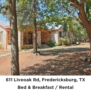 611 Liveoak Fredericksburg TX commercial rental for sale