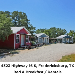 4323 Highway 16 Fredericksburg TX Rental Cabins