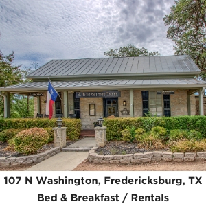 107 Washington Fredericksburg TX Historic Inn on the Creek