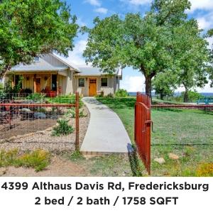 4399 Althaus-Davis Rd Fredericksburg TX / the Blowout Ranch For Sale
