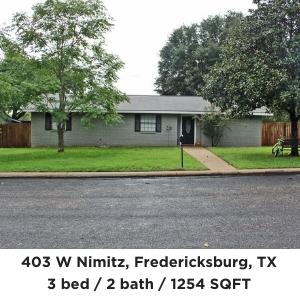 403 West Nimitz Fredericksburg TX home for sale