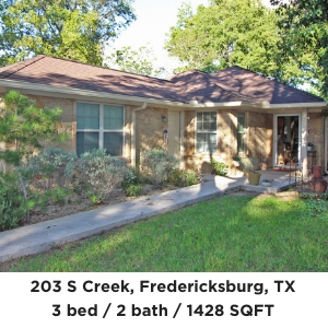 203 S Creek St Fredericksburg TX Home for Sale