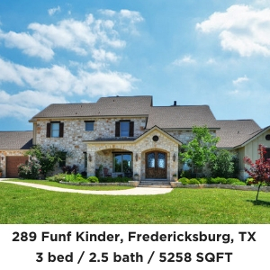 289 Funf Kinder Fredericksburg TX Home and Guest house on acreage