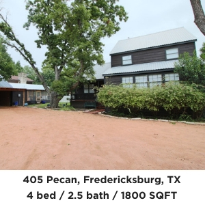 405 Pecan Street Fredericksburg TX Home For Sale