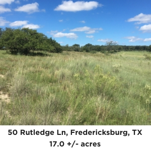 50 Rutledge Lane Fredericksburg TX Land For Sale
