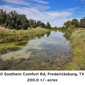 200 acre Southern Comfort Ranch For Sale in Fredericksburg TX